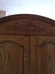 Solid Oak Entertainment Center - $500 (Barnesville Ohio)